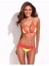 RELLECIGA Trojuholníkové plavky s červenou čipkou Neon Yelowk 033131001-314