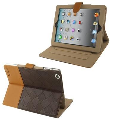 iPad case Diárové kožené púzdro s držiakom  pre iPad 4/3/2