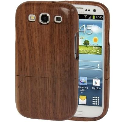 Drevený kryt Samsung Galaxy S3 i9300  - drevený dvojdielny obal- ružové drevo
