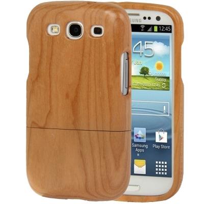 Drevený kryt Samsung Galaxy S3 i9300  - drevený dvojdielny obal-ružové drevo