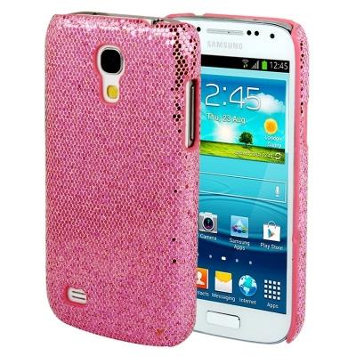 Trblietavé púzdro Samsung Galaxy S4 mini / i8190 - Ochranný kryt ružový