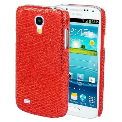 Trblietavé púzdro Samsung Galaxy S4 mini / i8190 - Ochranný kryt červený