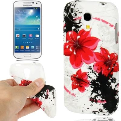 Samsung Galaxy S IV mini / i9190 - Flexi kryt - Red Flowers