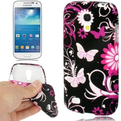 Ochranný flexi kryt pre Samsung Galaxy S IV mini / i9190- butterflies