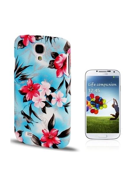 Ochranný kryt pre Samsung Galaxy S4- beautiful flower-blue