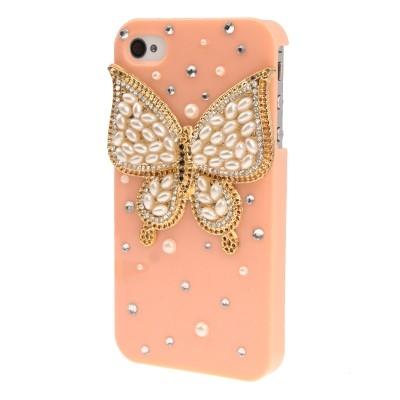 Kryt pre iPhone4/4S - Butterfly- marhuľa