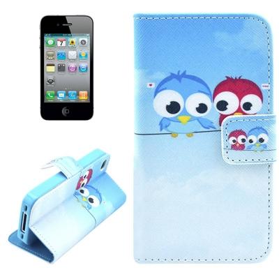 Kožené púzdro pre iPhone4/4S- owls