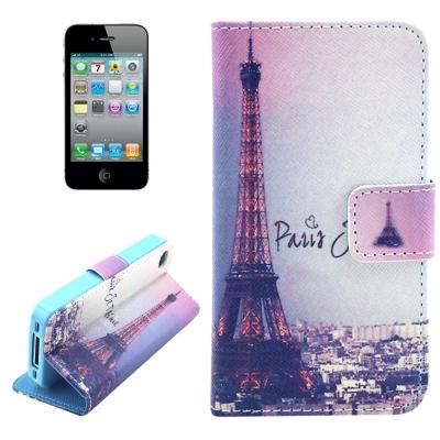 Kožené púzdro pre iPhone4/4S - Eiffel Tower