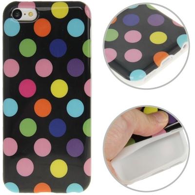 Farebný kryt pre iPhone 5C- dots