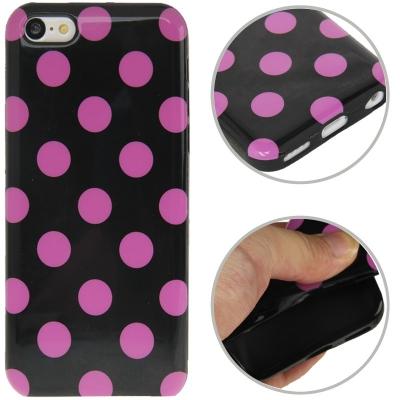 Farebný kryt pre iPhone 5C- pink dots