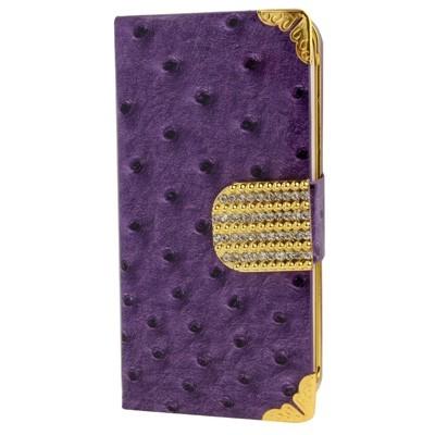 Kožené púzdro pre iPhone 5/5S-purple ostrich