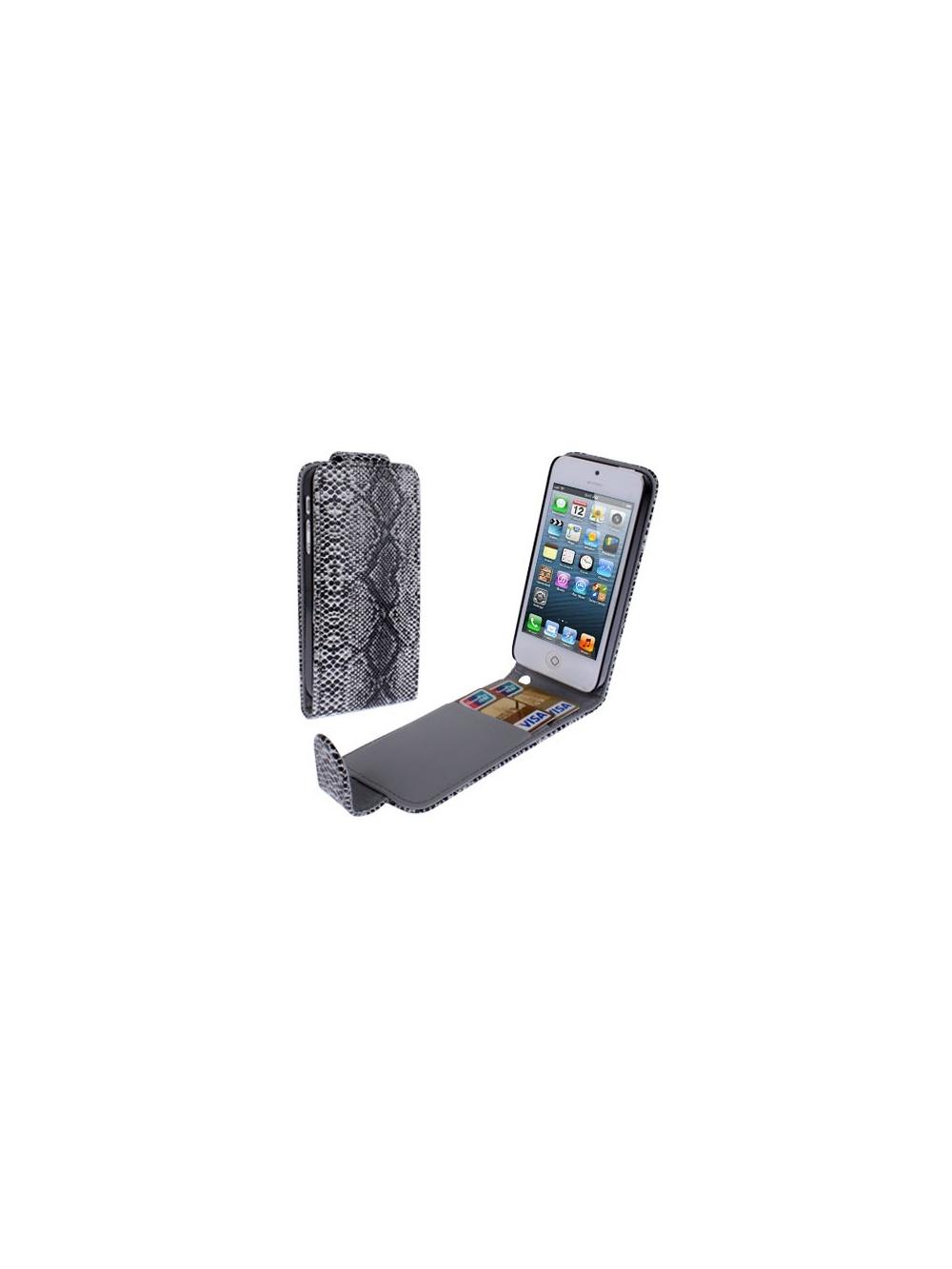 Diárové kožené púzdro pre iPhone 5 5S s hadím povrchom  bba8db3123a