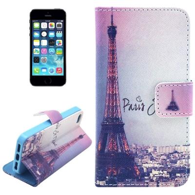 Kožené púzdro pre iPhone 5/5S- Eiffel Tower