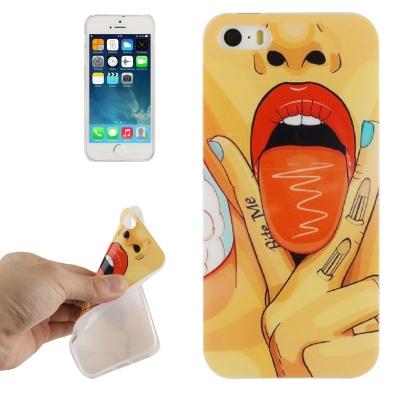 Štýlový ochranný kryt preiPhone 5 / 5S-tongue