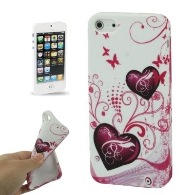 Štýlové TPU ochranné púzdro pre iPhone 5 & 5S - hearts