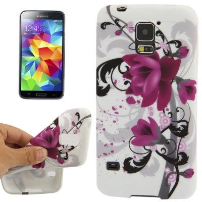 Ochranný kryt pre Samsung Galaxy S5- purple flowers