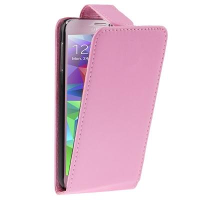 Samsung Galaxy S5- Vkusné kožené ružové púzdro