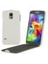 Samsung Galaxy S5- Vkusné kožené púzdro - biele