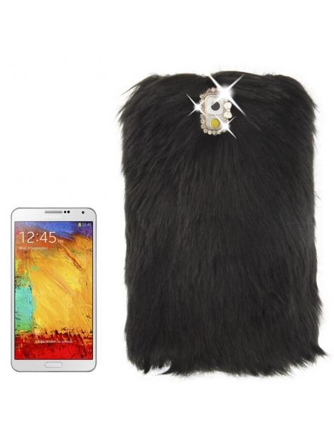 Samsung Galaxy Note III / N9000 - Yeti Chlpatý kryt- čierny