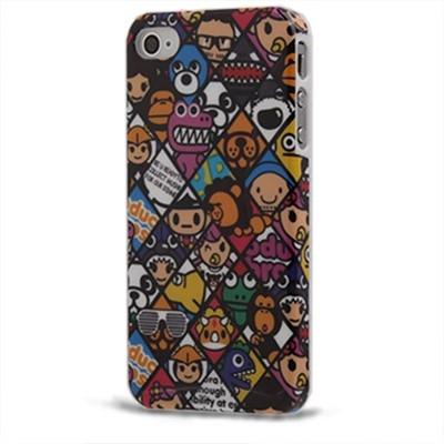 Smile Faces Case iPhone 4/4S - Ochranný protinárazový plastový kryt