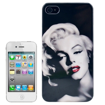 Marilyn Monroe Case iPhone 4/4S - Ochranné púzdro pre iPhone 4 & 4S Red Lips