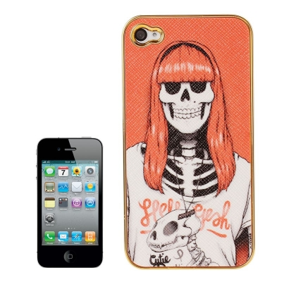 Skull Series iPhone 4 & 4S - Ochranný kryt pre iPhone 4/4S Skull Lady with Red Hair