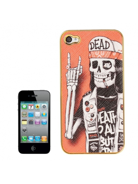 Skull Series iPhone 4 & 4S - Ochranný kryt pre iPhone 4/4S Skull Hipster with a Cigarette
