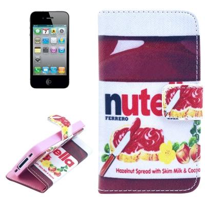 Kožené púzdro pre iPhone4/4S - Nutella