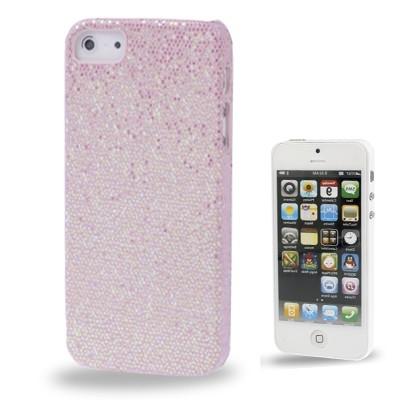 Trblietavý kryt pre iPhone 5 & 5S - pink