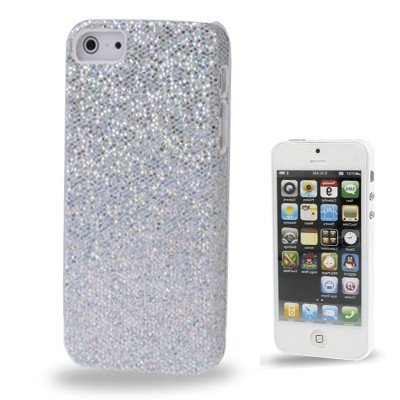 Trblietavý kryt pre iPhone 5 & 5S - silver