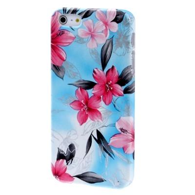 Kryt pre iPhone 5  - flowers blue
