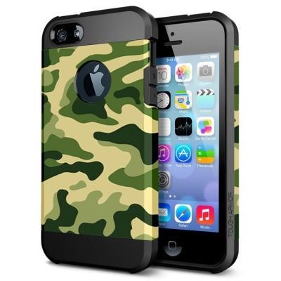 Ochranný kryt pre iPhone 5- camouflage-green