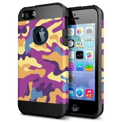 Ochranný kryt pre iPhone 5- camouflage-purple