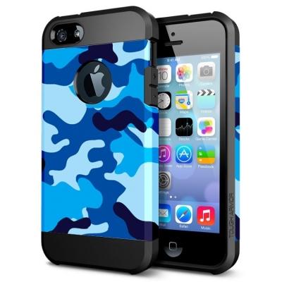 Ochranný kryt pre iPhone 5- camouflage-blue