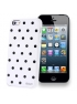 Kryt pre iPhone 5 & 5S - Dots- white