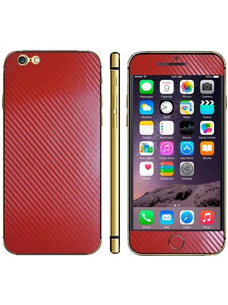 Karbónová fólia pre iPhone 6 - red