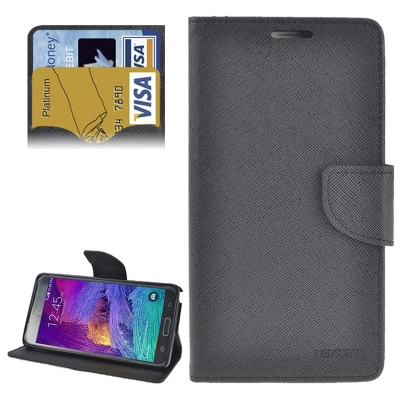 Elegantné kožené púzdro Mercury pre Samsung Galaxy Note 4 - black
