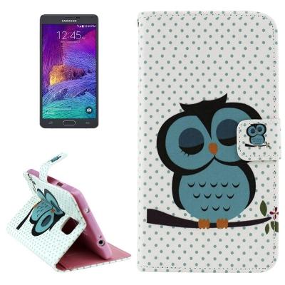 Kožené púzdro pre Samsung Galaxy Note 4 - Owls