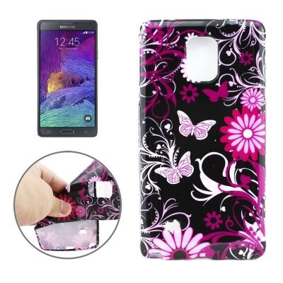 Ochranný kryt pre Samsung Galaxy Note 4 - butterfly flowers