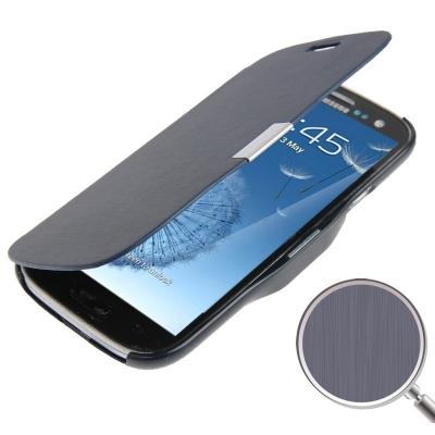 Flip púzdro s držiakom pre Samsung Galaxy SIII / i9300 čierne