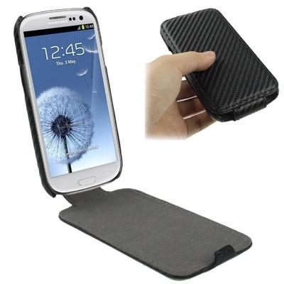 Karbónové púzdro Samsung Galaxy SIII / i9300- čierne