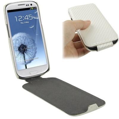 Karbónové púzdro Samsung Galaxy SIII / i9300 biele