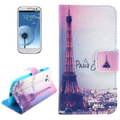 Kožené púzdro pre Samsung Galaxy S3/i9300 - Eiffel Tower