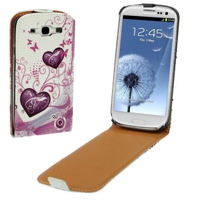 Kožené diárové púzdro Samsung Galaxy SIII / i9300- hearts
