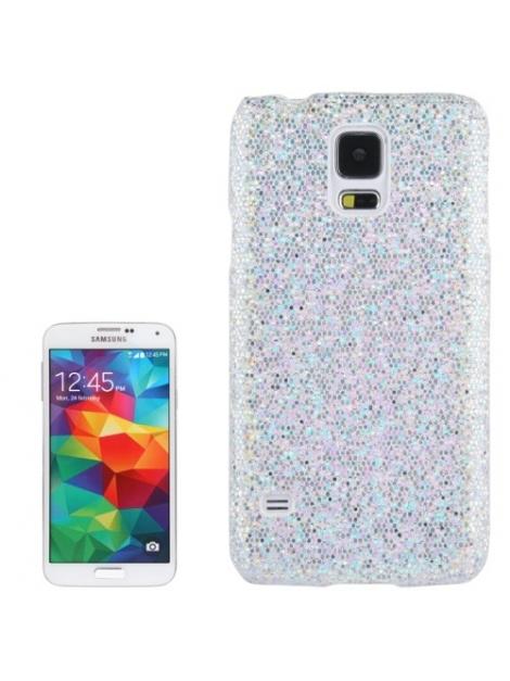 Trblietavý kryt pre Samsung Galaxy S5 mini/G800- silver