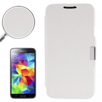 Samsung Galaxy S5 mini / G800 -Módne diárové ochranné púzdro-strieborné