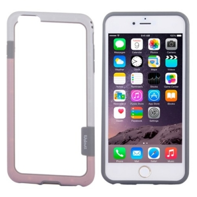 Walnutt Bumper iPhone 6 Plus - Ochranný rám pre iPhone 6 plus - white and pink