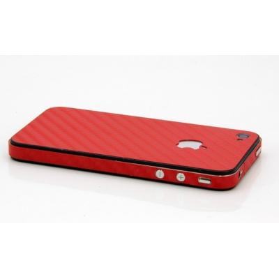 iPhone 4/4S iCover Carbon Skin karbonová samolepiaca fólia červená