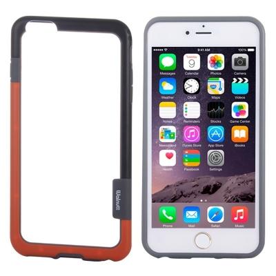 Ochranný rám Walnutt pre iPhone 6 - Čierny / Oranžový
