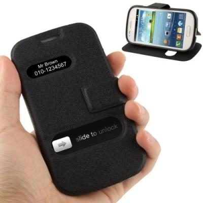 Kožené púzdro pre Samsung Galaxy S3 mini/i8190- black